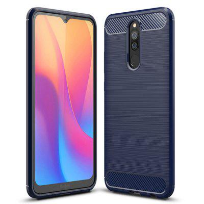 Shockproof Carbon Fiber Phone Case voor Xiaomi redmi 8 / 8A