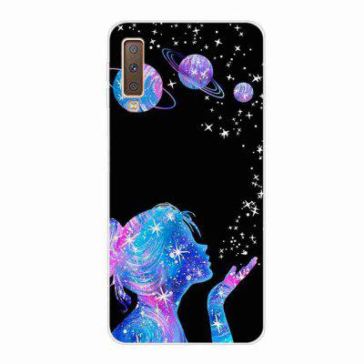 Multi-Pattern TPU Painted Phone Case for Samsung Galaxy A750 / A7 2018