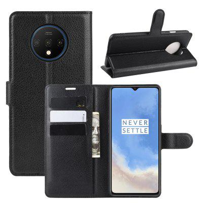 Card Protection PU Leather Phone Case voor OnePlus 7T