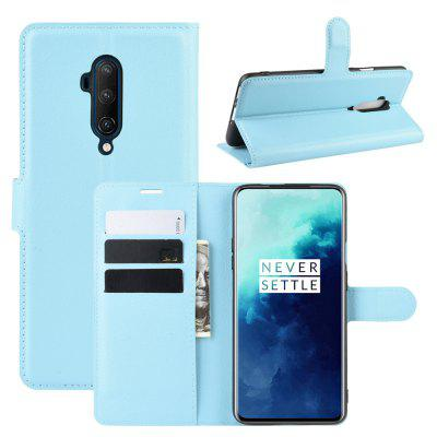 Card Protection PU Leather Phone Case voor OnePlus 7T Pro