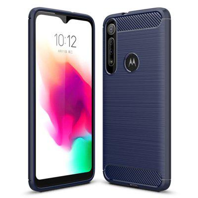 Shockproof Carbon Fiber Phone Case voor MOTO G8 Play