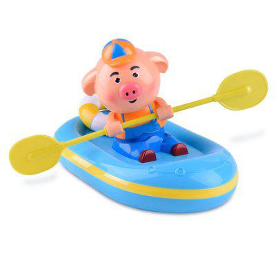 Cute Pig Wind Up Automatic Boating Swimming Puppy Bath Toy