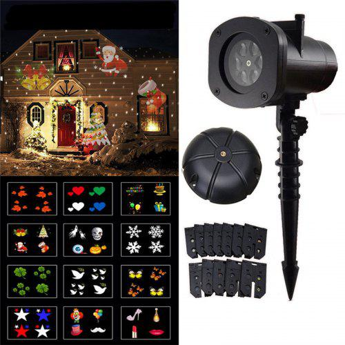 2019 Newest Version 12 Patterns Waterproof Decorations Christmas Projector Light