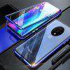Double Sided Glass Metal Magnetic Phone Case for OnePlus 7T - BLUE