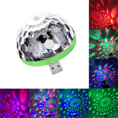 USB LED Color Crystal Mini Stage Lamp