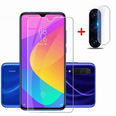 Lens Protective Film + Glass Screen Protector for Xiaomi Mi 9 Lite/A3 Lite/CC9