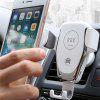 10W Qi Car Wireless Fast Charger Phone Holder Gravity Bracket Mount - WHITE