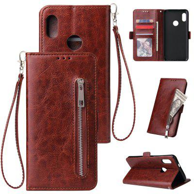 Leather Zipper Handbag Wallet Flip Case for Xiaomi Redmi Note 7 / Note 7 Pro