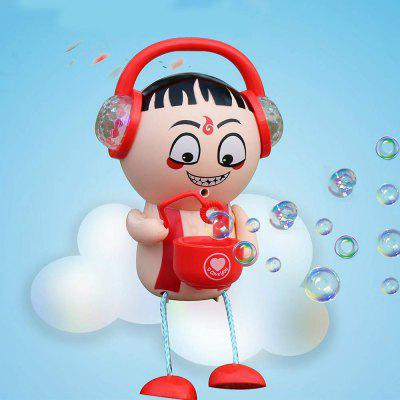 Creative Electric Music Nezha Bubble Maker Machine Bathing Toy for Kids Baby