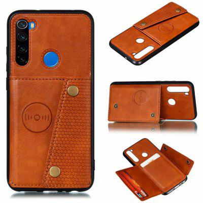 Caso Holder Phone Card pelle PU per Xiaomi redmi Nota 8