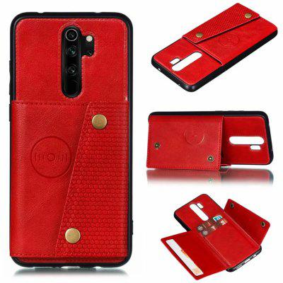 Caso Holder Phone Card pelle PU per Xiaomi redmi Nota 8 Pro