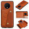 PU Leather Card Holder Phone Case for OnePlus 7T - LIGHT BROWN