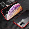 Double Sided Glass Metal Magnetic Phone Case for iPhone 11 Pro Max - RED
