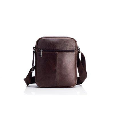 LAOSHIZILUOSEN Top Layer couro Crossbody IPad Bag homens de Fashion Trend Bag