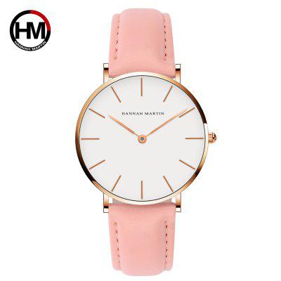 Hannah Martin Fashion Simple Bauhaus White Belt quartz horloge