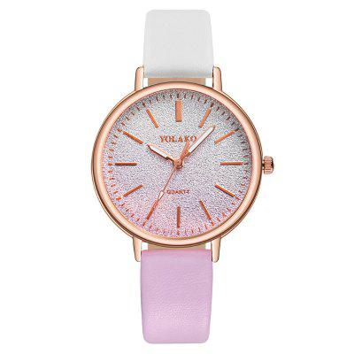 New Fashion Women Creative All Star Color Matching Dial Leisure Quartz Watch