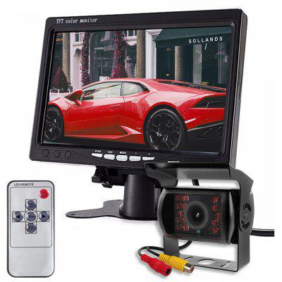 ZIQIAO 7 Inch Monitor Car IR Camera Rear View Display System For Truck