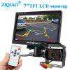 ZIQIAO 7 palcový monitor Car IR kamera Rear View Display System Pre Truck - JET BLACK