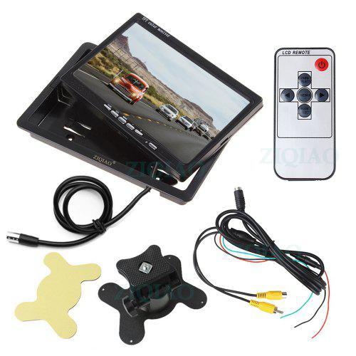 ZIQIAO 7 Inch Monitor Car 18 IR Light Camera Rear View Display System For Truck