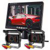 ZIQIAO 7 palcový monitor Car 18 IR Light Camera Rear View Display System Pro Truck - JET BLACK
