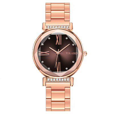 Modieuze vrouwen Zaken Steel Belt Simple Diamond Dial Creative Leisure horloge