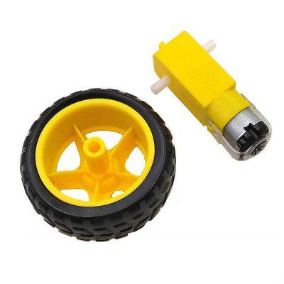 Smart Car Robot Plastic Tire Wheel with DC 3-6V Gear Motor for Robot