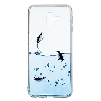 TPU Painted Transparent Phone Case for Samsung Galaxy J6 PLUS 2018