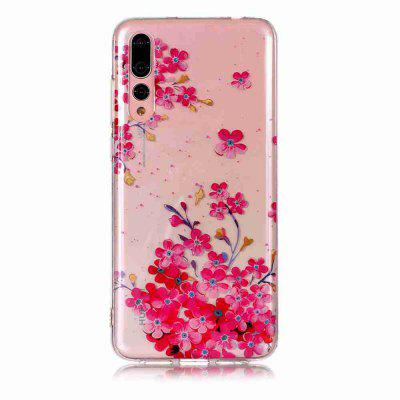TPU Painted Transparent Phone pour Huawei P20 Pro