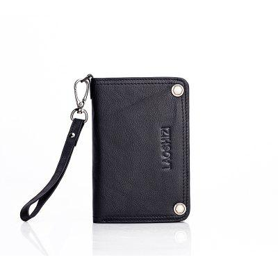 LAOSHIZILUOSEN First Layer Cowhide Anti-Theft Card Package Retro Style Wallet