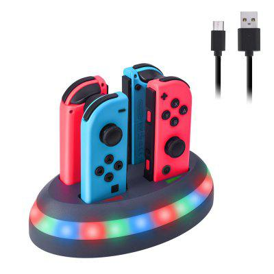 Carregador com 4 Portas com Dock de Carregamento para Switch Joy-Con