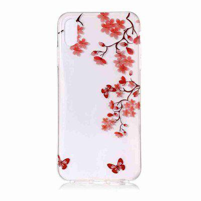 TPU Painted Transparent Phone pour iPhone XS Max