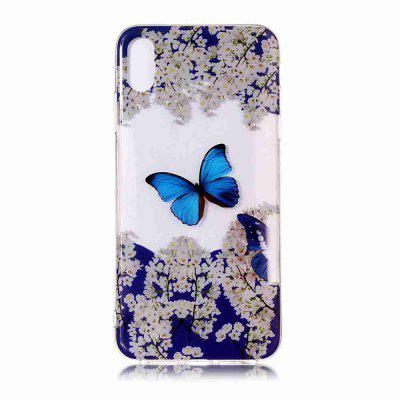 TPU Malowane Transparent Phone Case for iPhone Xr