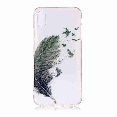 TPU pintado Phone Case Transparente para iPhone Xr