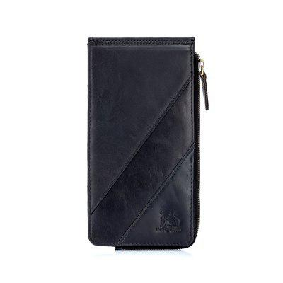 LAOSHIZILUOSEN Men'S Large-Capacity Wallet Card Package Anti-Theft Card Package