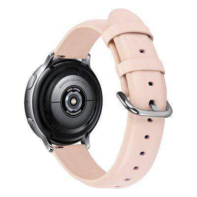20mm Genuine Leather Strap for Samsung Galaxy Watch Active 2 Wrist Strap