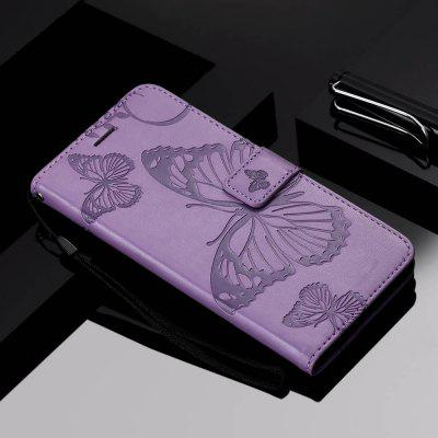 Big Butterfly dombornyomás PU Telefon tok iPhone X / X-
