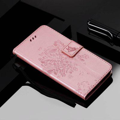 Cat and Tree Embossing PU Phone Case for Xiaomi Redmi 8A
