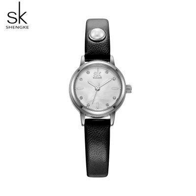 Shengke K8011 Pearl Strap Fashion Ladies Quartz Watch