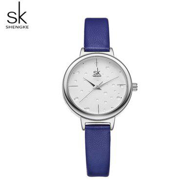 Shengke K8024 Simple Creative Water Drop Pattern Dial Lady'S Quartz Watch