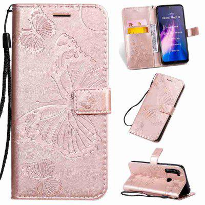 Butterfly Embossing PU Phone Case for Xiaomi Redmi Note 8