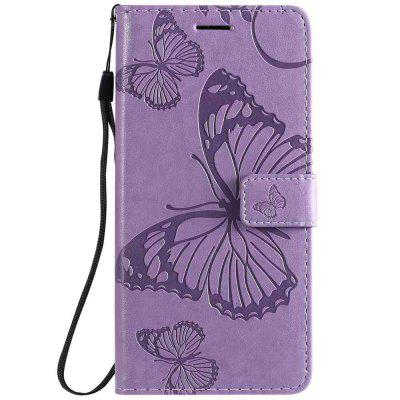 Butterfly Embossing PU Phone Case for Xiaomi Redmi 8A