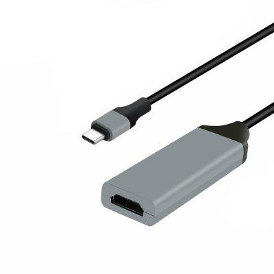 Cwxuan USB 3.1-type C-naar-HDMI-adapter kabel voor MacBook / Huawei Matebook