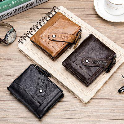 Old Lion Leather Men'S Wallet Money Coin Purse Anti-Theft Credit Card Bag