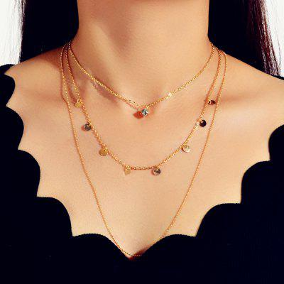 Fashion Golden Multilayer Chain Necklace