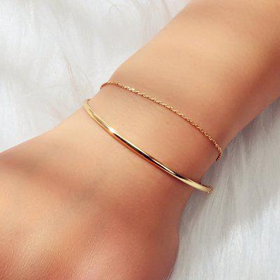 Fashion Golden Double-layer Fine Chain Bracelet