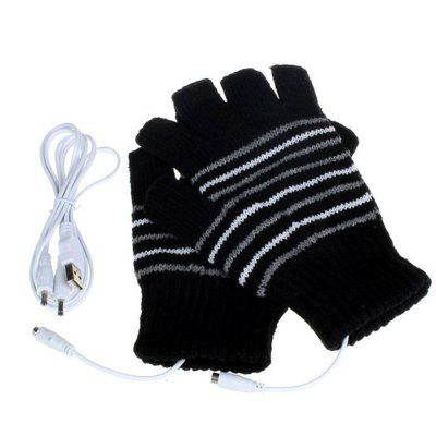 USB Heating Fashion Warm Gloves Men Gloves