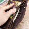 Leather Men Wallet Fashion Money Coin Purse Double Bill Wallet Oem - COFFEE