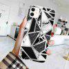 TPU Geometric Marble Painted Phone Case for IPhone 11 - MULTI-C
