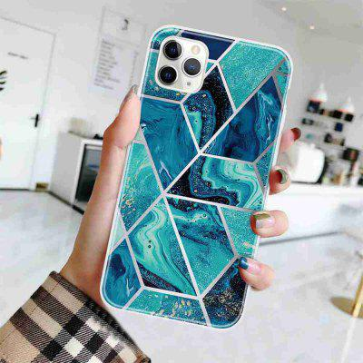 TPU Geometric Marble Painted Phone Case for iPhone 11 Pro Max