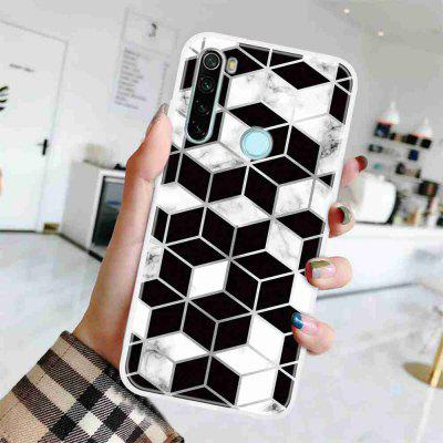 TPU Geometric Marble Painted Phone Case for Xiaomi Redmi Note 8
